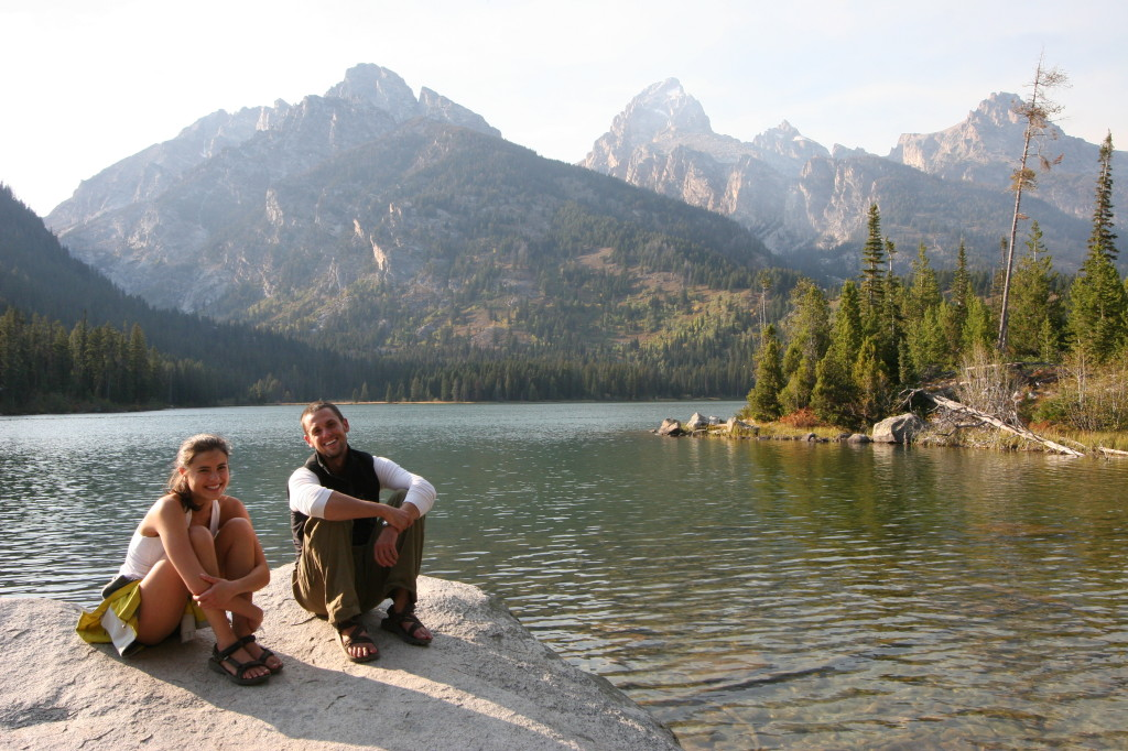 The only two people I encountered along the trail to Taggert Lake. When you visit the park in September, you have the place mostly to yourself.