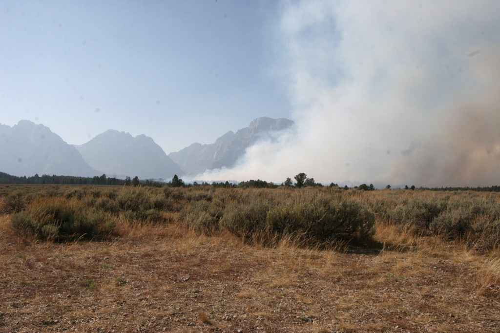 One of three fires in Grand Teton National Park during my visit.