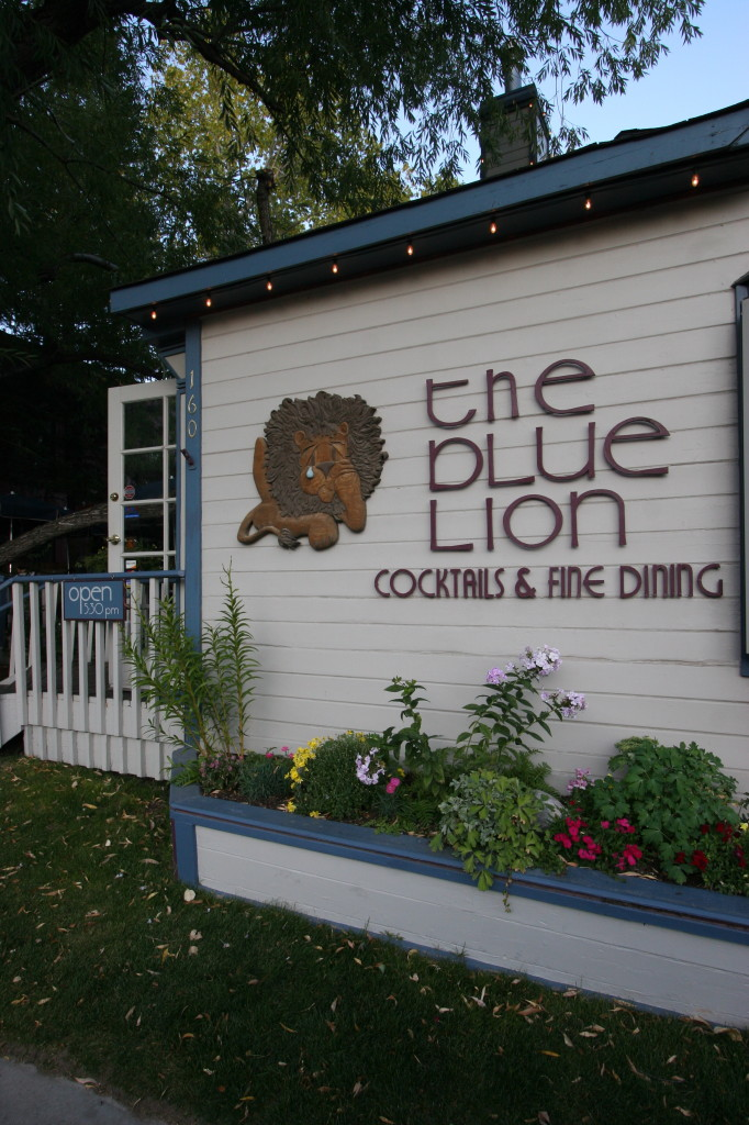 Fantastic food at The Blue Lion in the town of Jackson.