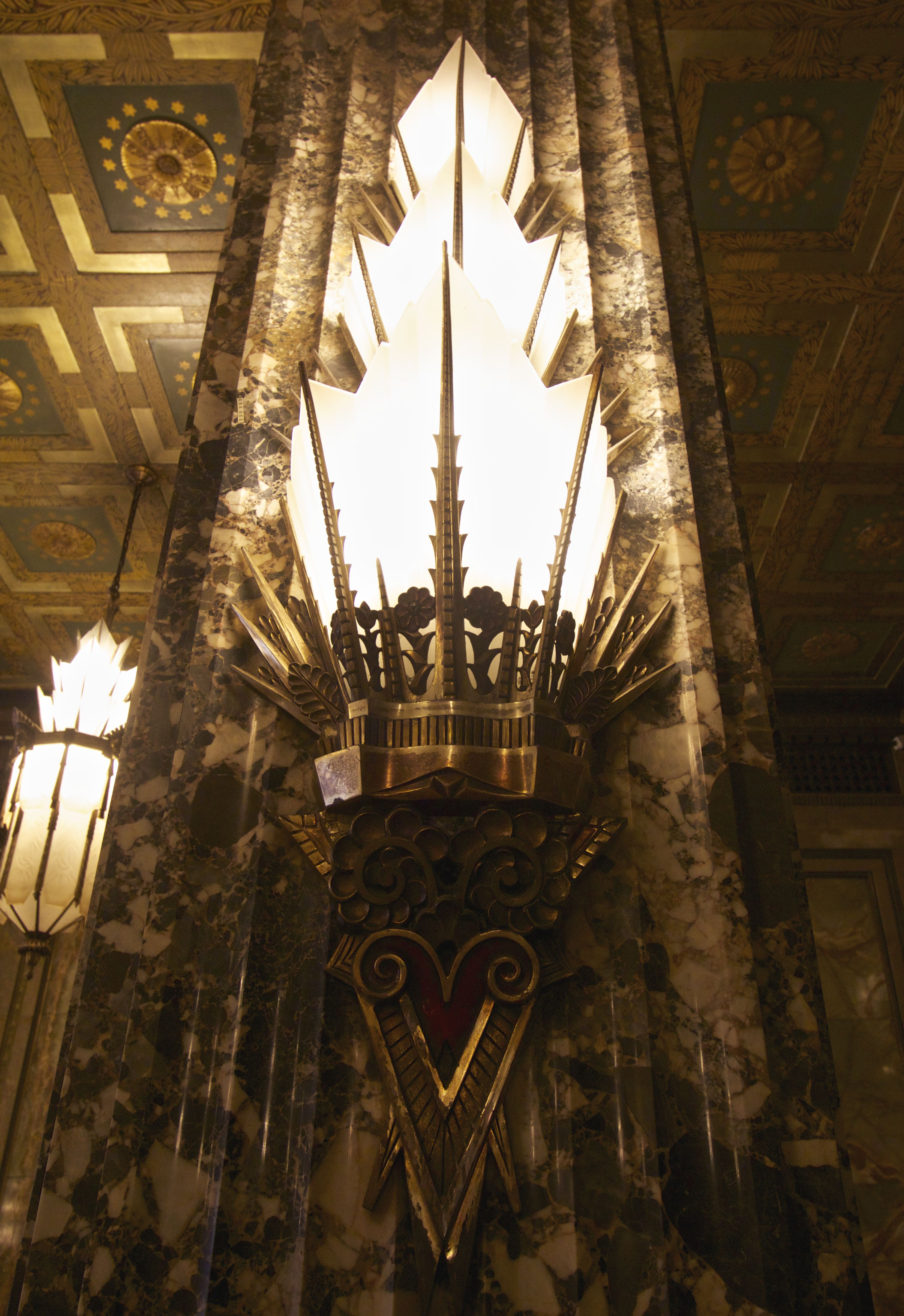 Art Deco Sconce in the Fisher Building Detroit
