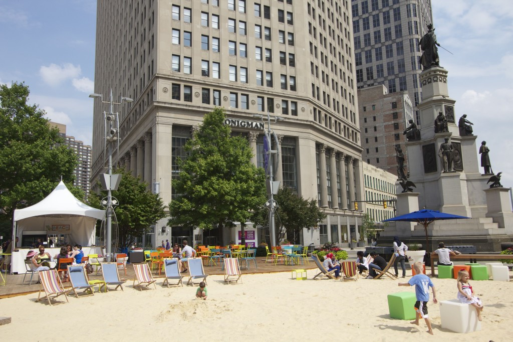 Campus Martius Park in downtown Detroit. Photo ©Robert Bundy