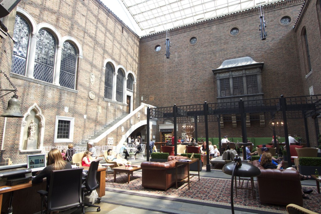The newly remodeled Kresge Court at the Detroit Institute of Art. Photo ©Robert Bundy