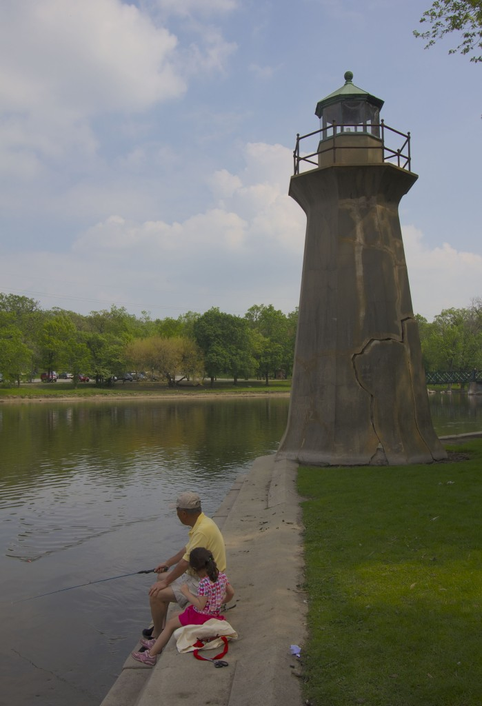 The lighthouse at Fabyan Forest Preserve & Villa.