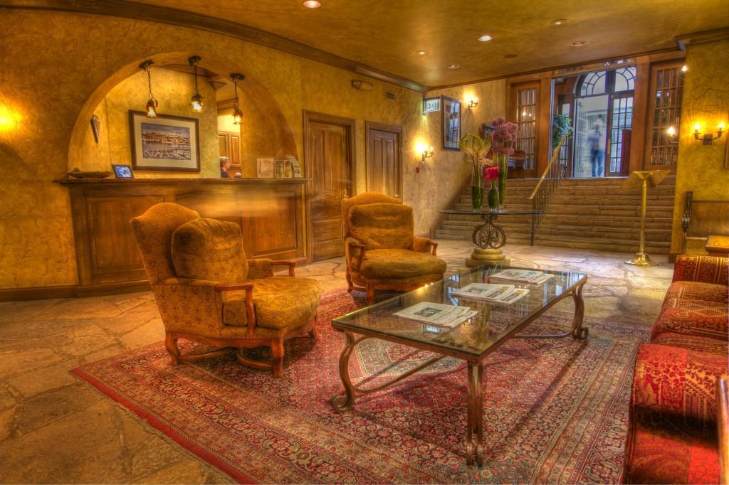 The lobby of The Herrington Inn & Spa.