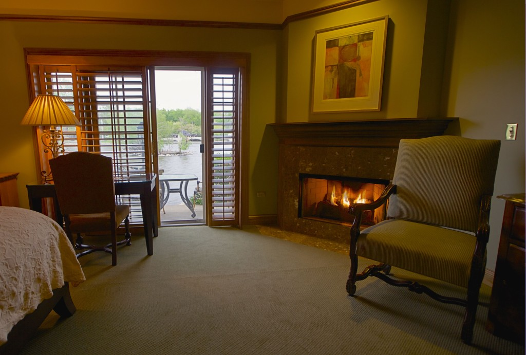 The Fox River rolls close by the walls of the Herrington Inn & Spa.