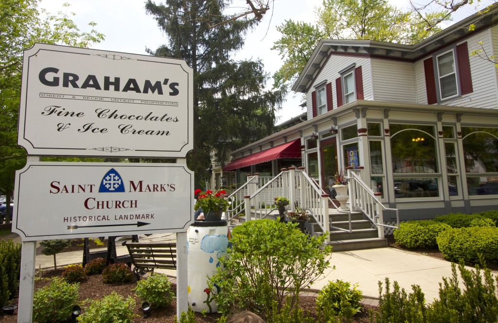 Graham's Chocolates & Ice Creams.