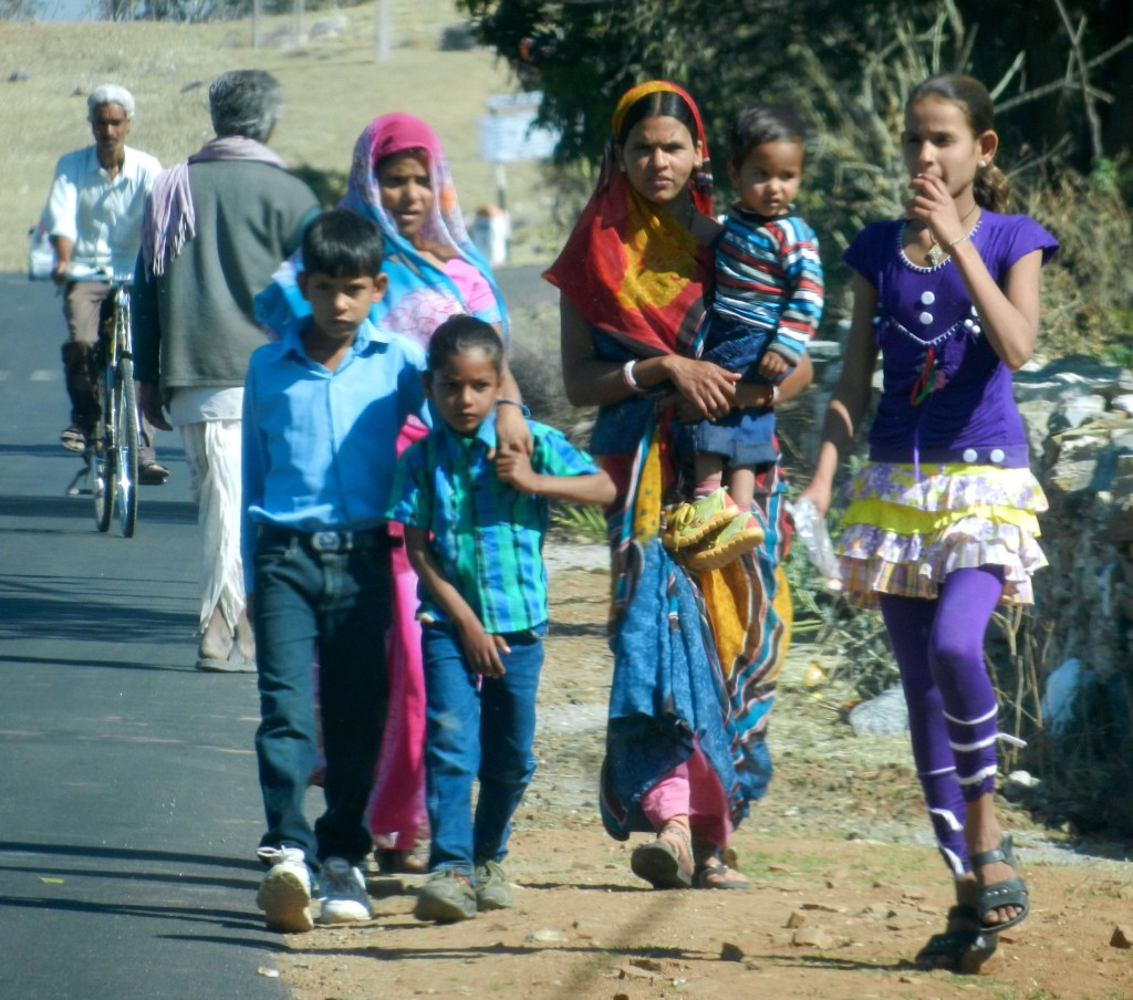 Families in the Adivasi area, evidencing more connection to the outside world in other parts of Gujarat.