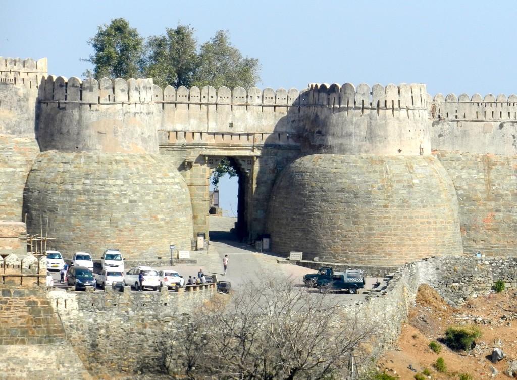 The incredible Kumbhalgarh fort at Ranakpur.
