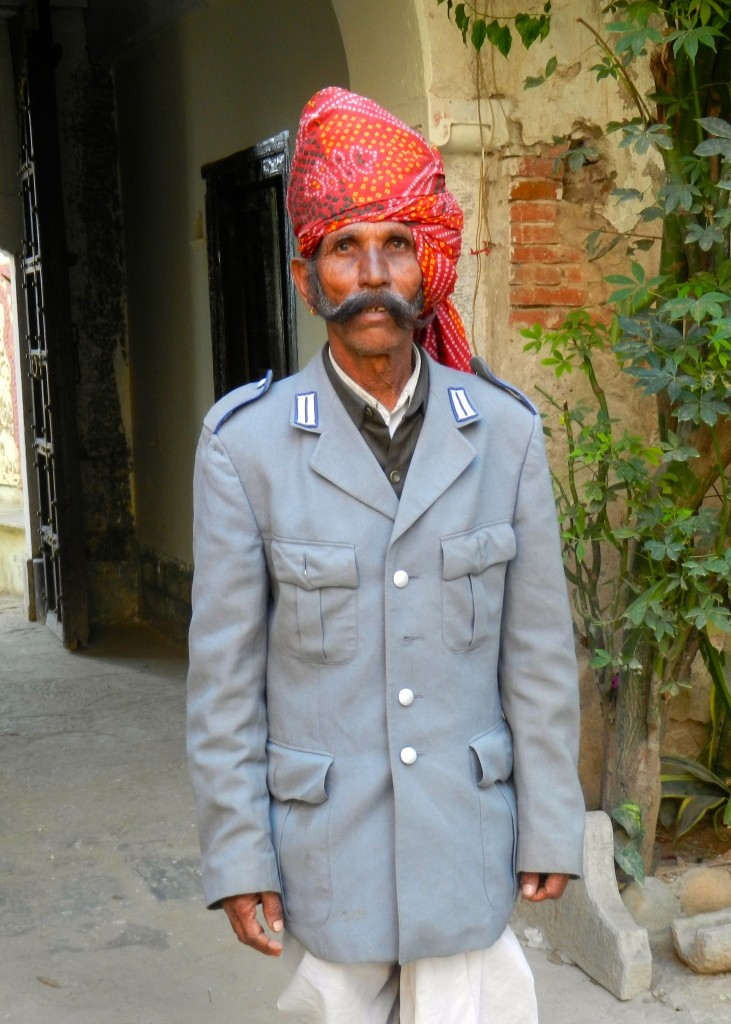 Gatekeeper of the the Darbargadh hotel at Poshina