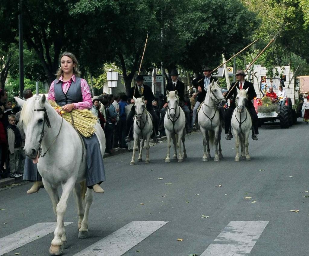 The gardians of the Camargue in the Feria du Riz in Arles. All photos ©Robert Bundy.