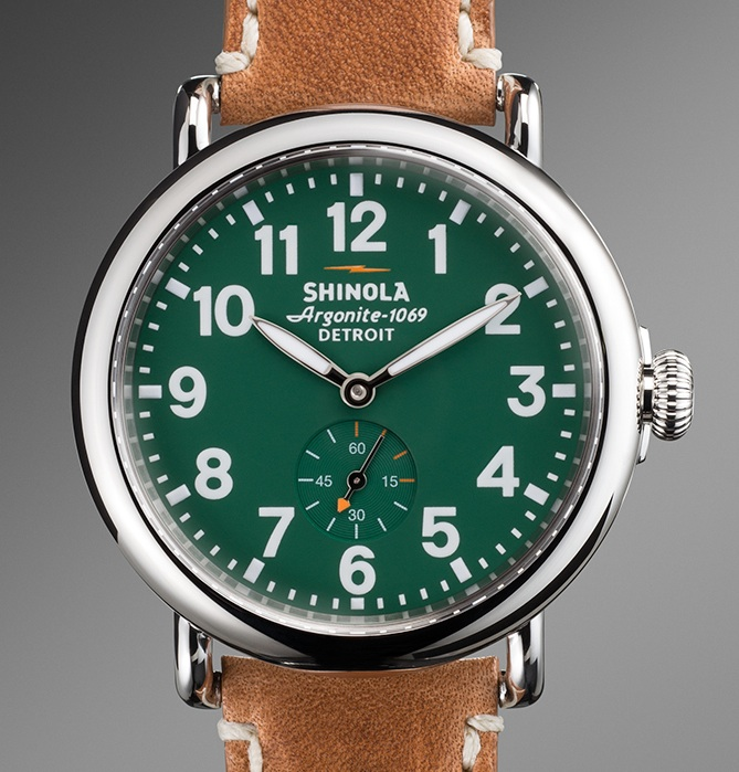 The new Shinola Runwell wristwatch, the first watch built in the United States in more than 40 years. Made in Detroit. Photo ©Robert Bundy