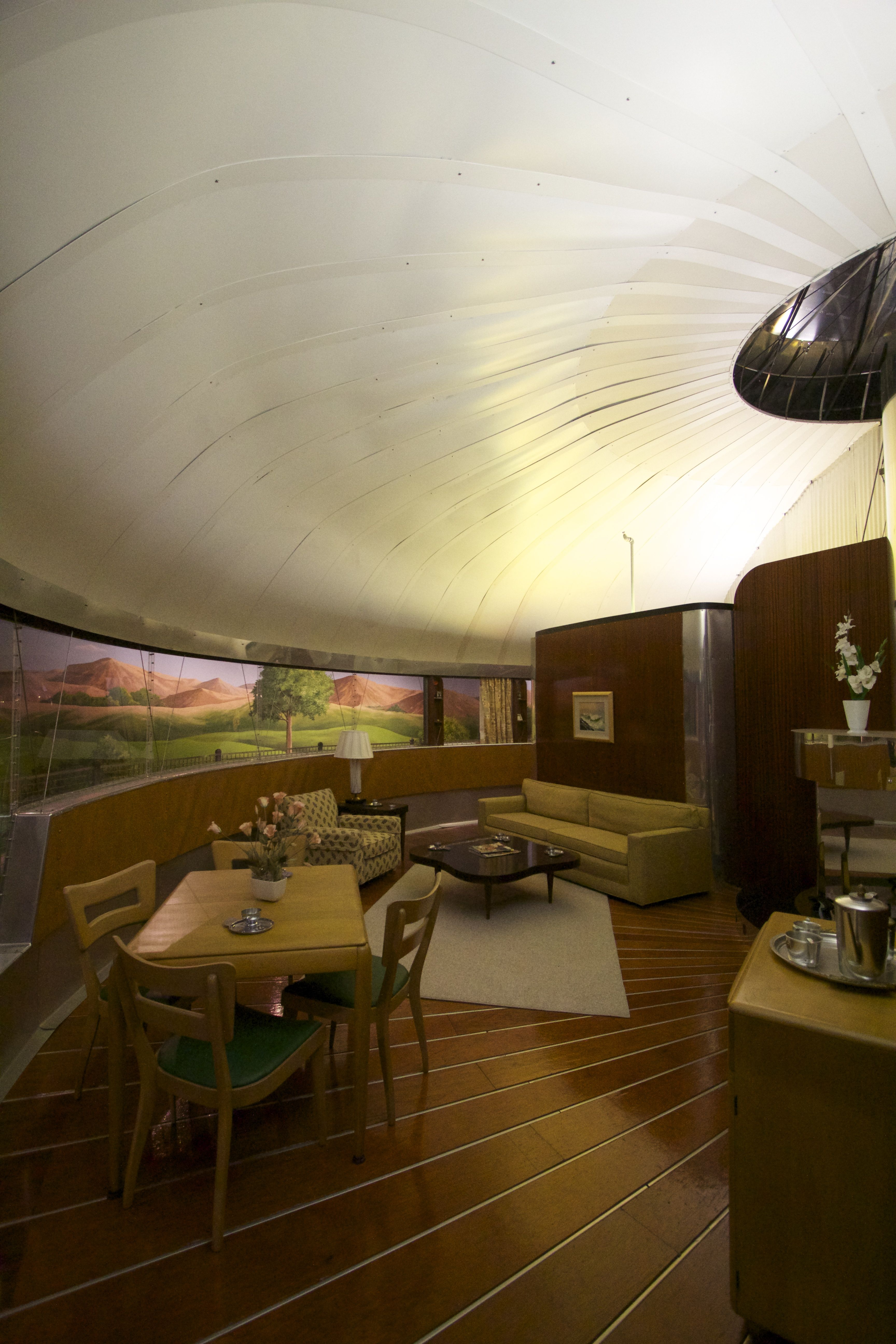 inside the Dymaxion House Ford