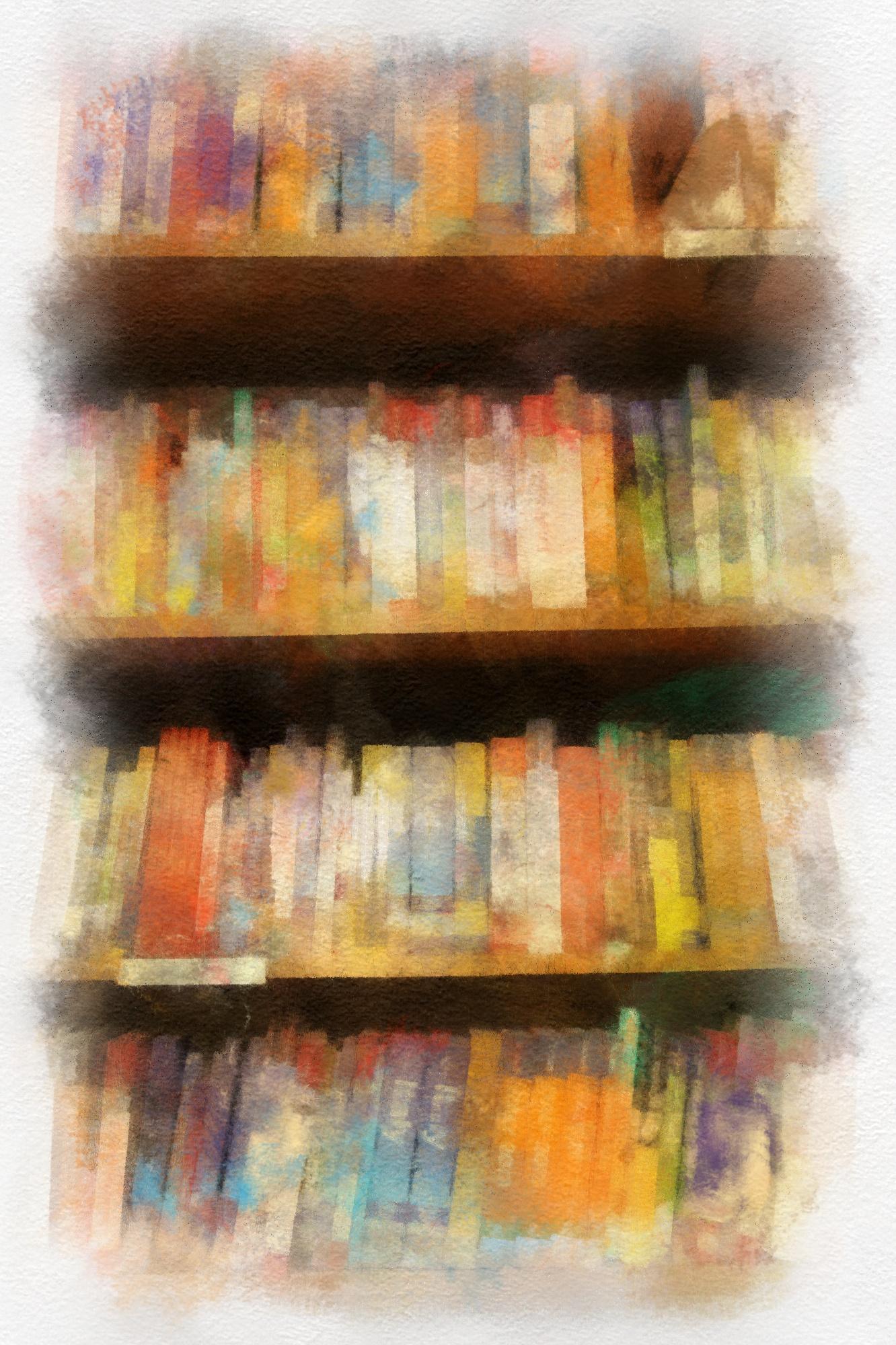 Shelves full of invitations to dream.