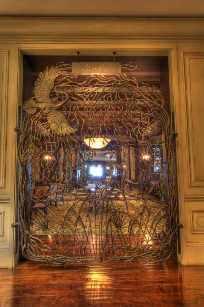 The entrance to the Ocean Room at The Sanctuary.