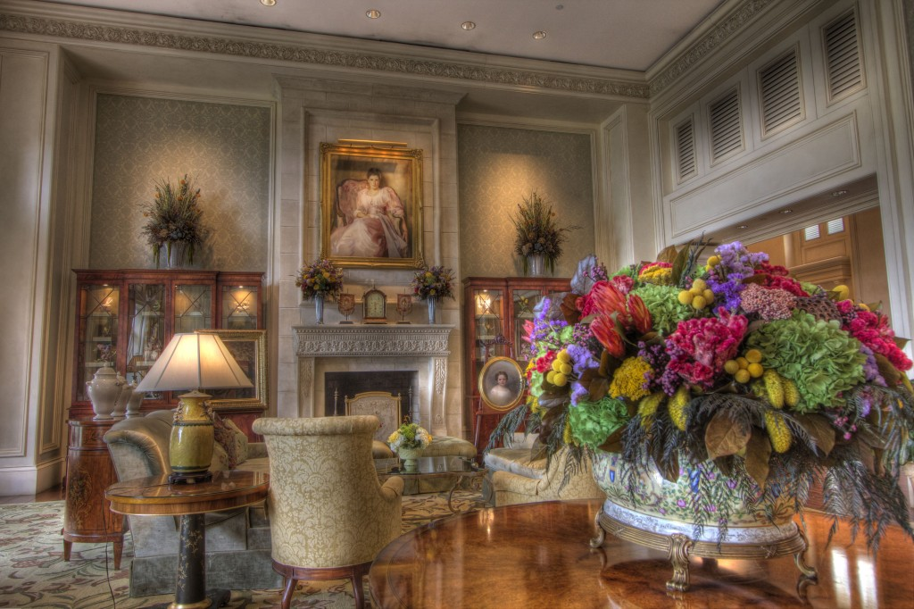 The Drawing room of The Sanctuary on Kiawah Island.