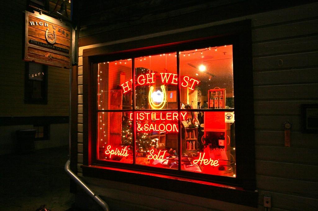 High West Distillery on historic Main Street.
