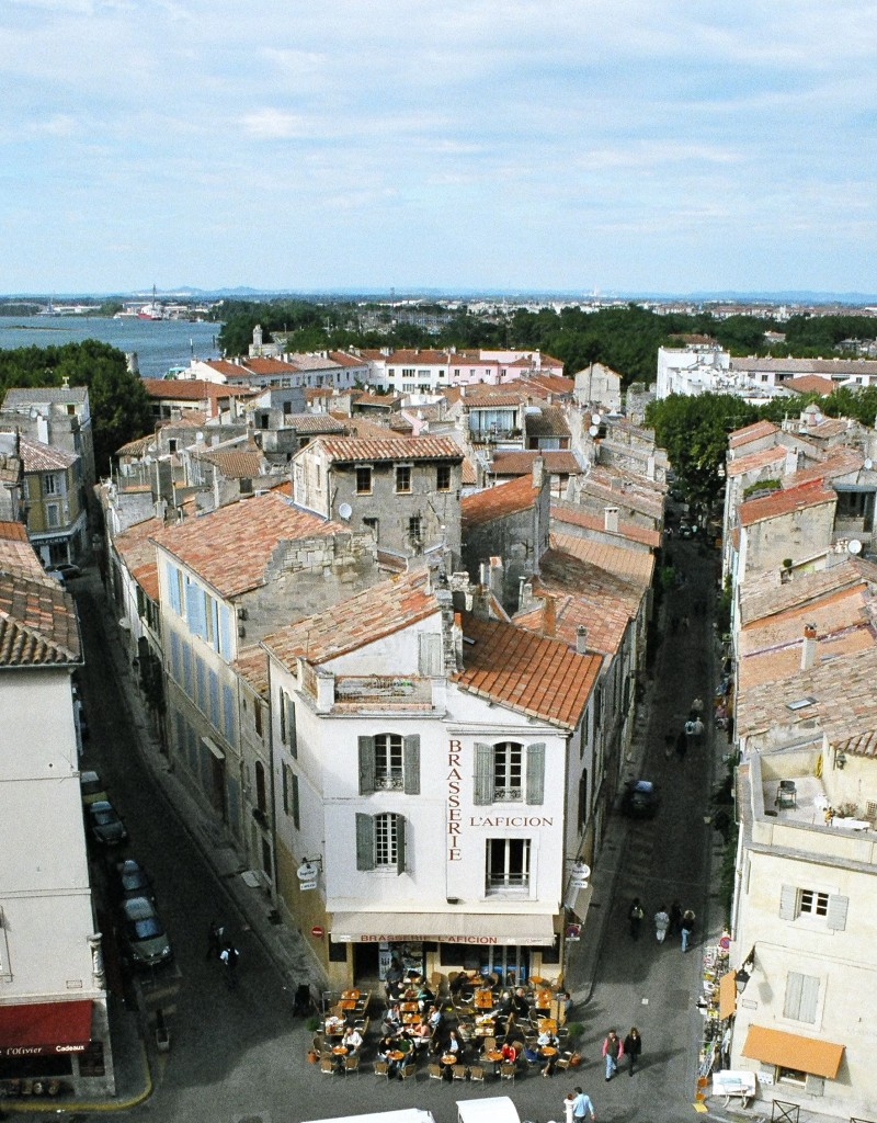 A view of Arles from the top of the Roman arena.