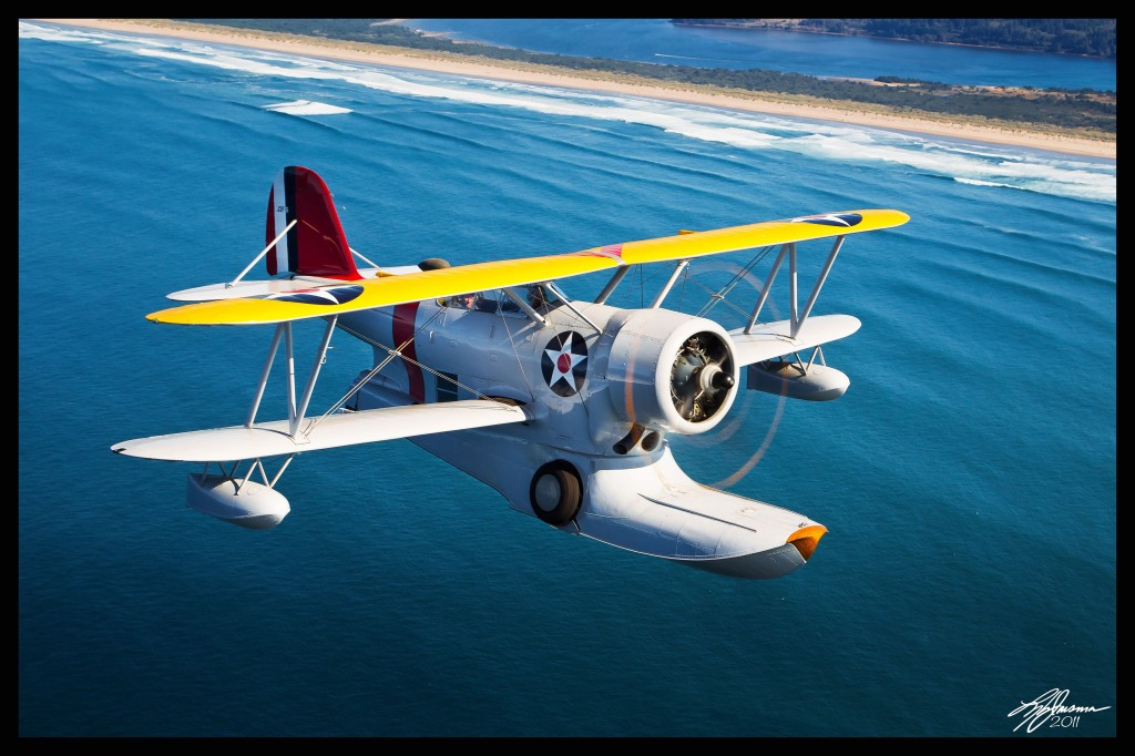 A Grumman J2F-6 Duck, an amphibious aircraft from 1936. Photo courtesy of the Tillamook Air Museum.
