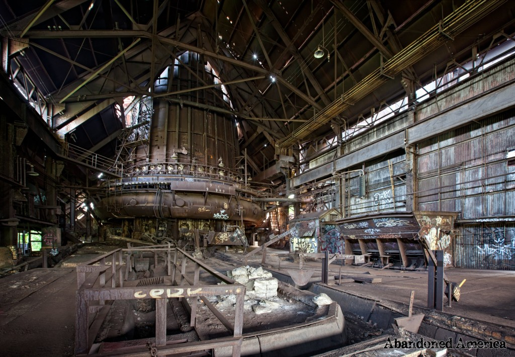 Inside the century-old Carrie Furnaces in Rankin, Pennsylvania. All images @Matthew Christopher, AKA Abandoned America.
