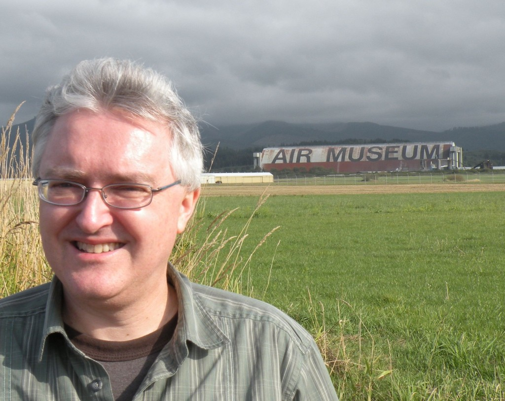 Jeff Neal in front of the Tillamook Air Museum.