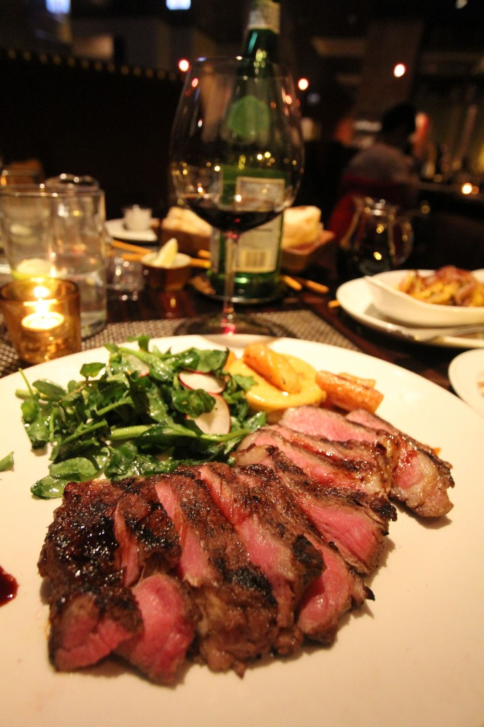 Porterhouse steak at The Florentine Restaurant in the JW Marriott Chicago.