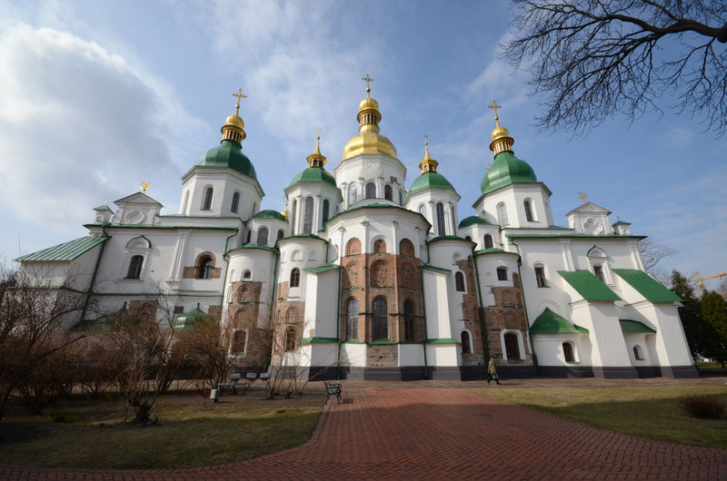 The Cathedral of Saint Sophia, now a UNESCO World Heritage Site at the center of Kiev.