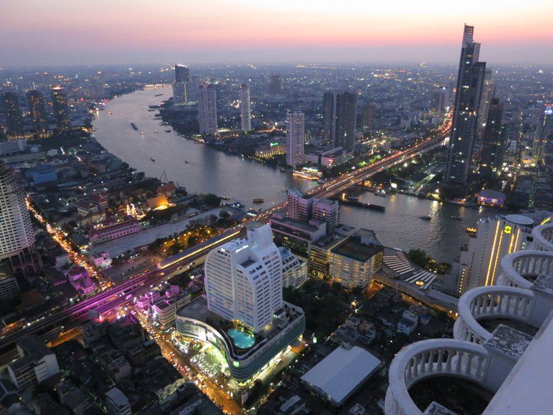 The Chao Phraya River flows through Bangkok.