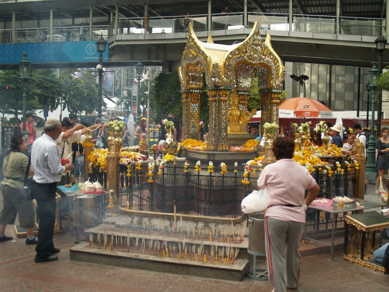 The Erawan Shrine, Bangkok. Kevin Revolinski photo.