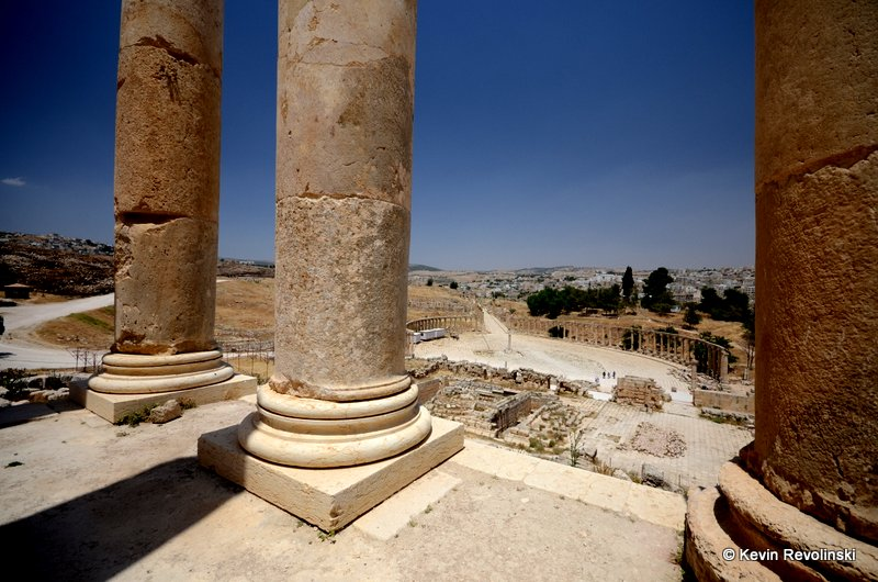 The ruins of the Roman city of Jerash