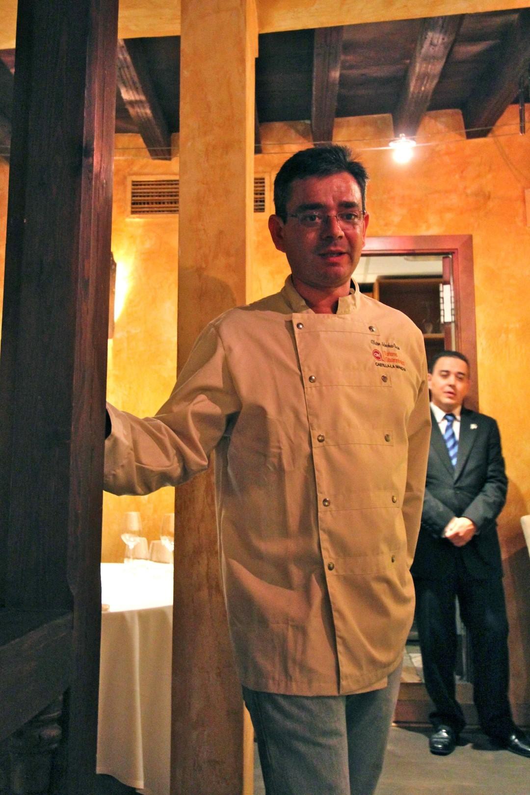 Chef Victor Sanchez-Beato, sommelier Eduardo Gallardo, Locum, Toledo, Spain, Sephardic, Travelers Roundtable, Robert Bundy