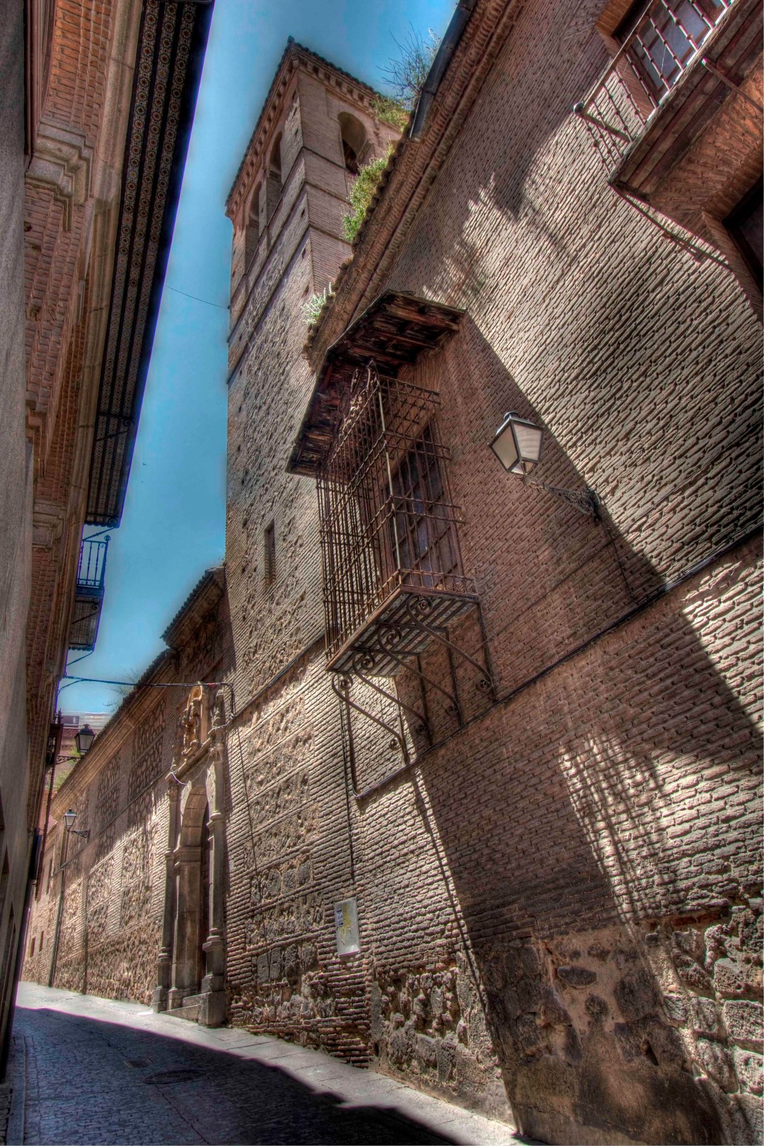 Toledo, balcony, shadows, Spain, Travelers Roundtable, Robert Bundy