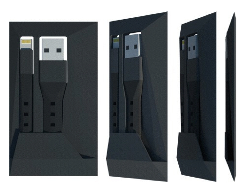 The tiny NomadCard plugs your iPhone into any USB outlet to give you power when you need it most.