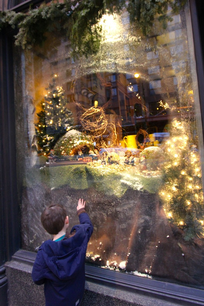 A magical Christmas window along State Street