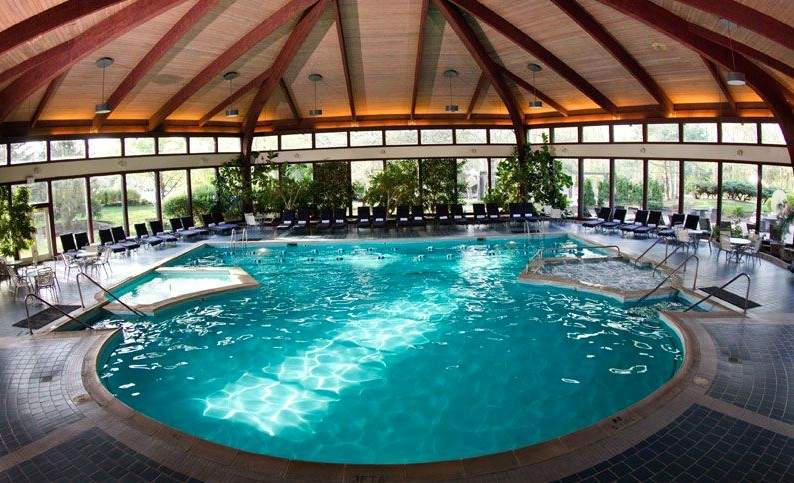The Atrium Pool at the Avani Spa at the Abbey Resort.