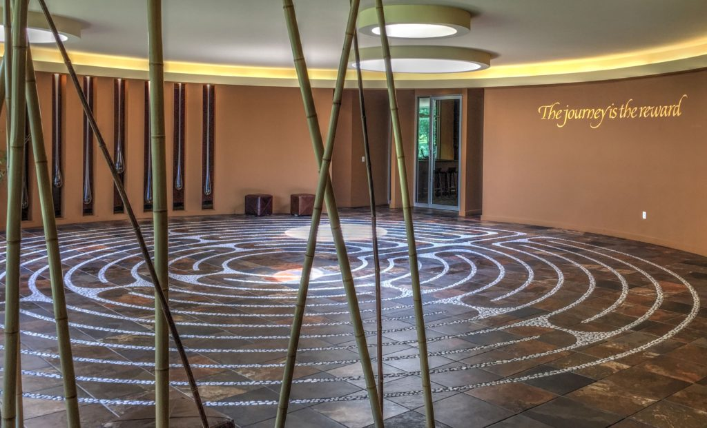 The Labyrinth at Evensong Spa.